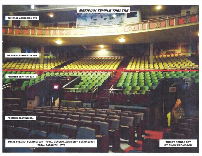 TEMPLE THEATRE SEATING PRICES
