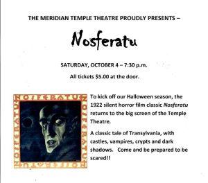 Nosferatu Silent Movie Oct 4