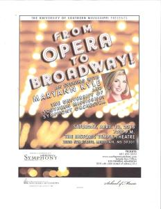 From Opera to Broadway Maryann Kyle