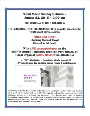 High and Dizzy Silent Movie 8-23-15