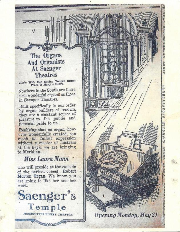 SAENGER Opening Promo with organ