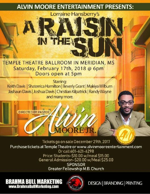Raisin in the Sun - Alvin Moore Dinner Theatre