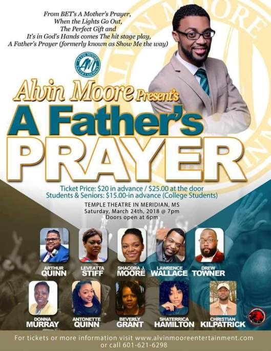 Alvin Moore A Father's Prayer 24Mar18