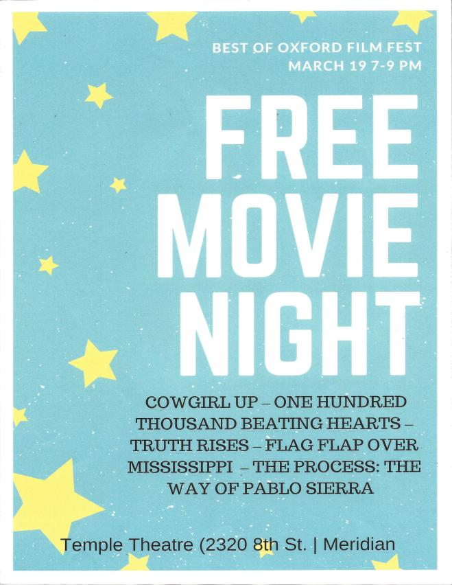 FREE MOVIE OXFORD FILMFEST 19MAR18