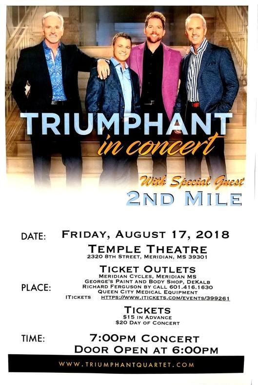 Triumphant in Concert 8-17-18