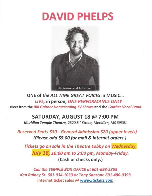 DAVID PHELPS POSTER - EDITED - ticket info