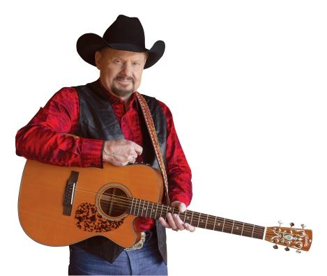 Moe Bandy guitar red