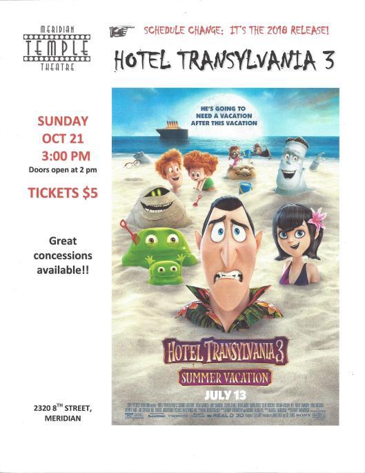 Fright-Fest 2018 Hotel Transylvania 3